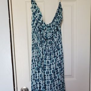 Sleeveless Hi Low Summer Dress